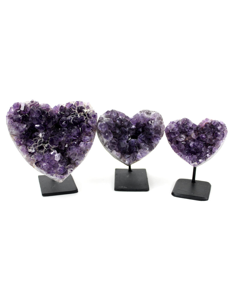 Amethyst Heart on Stand 401-425g