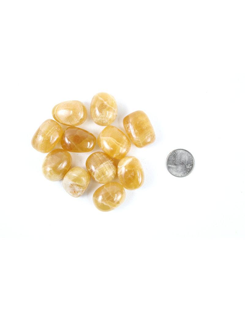 Calcite Honey Pakistan Tumbled