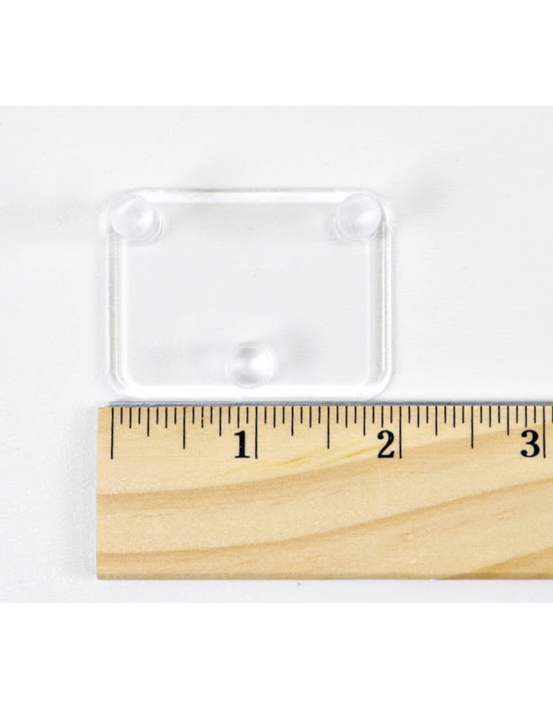 """Extra-Small 3 Peg Acrylic Stand 2""""x1.5"""""""
