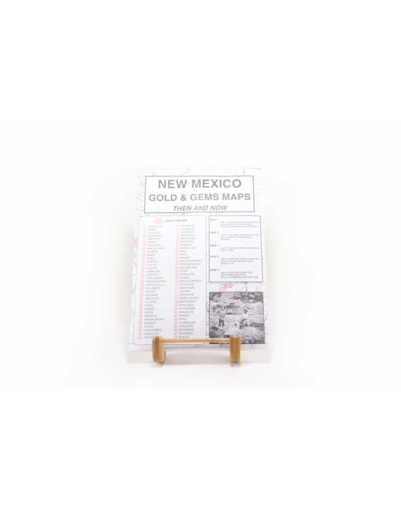 New Mexico Gold & Gems Maps Then and Now