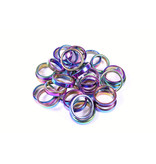 Natural Hematite Titanium Rainbow  Hematite Ring