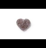 Amethyst Druzy Heart 40-50mm