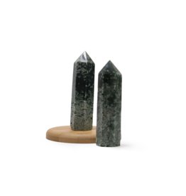 """Moss Agate Polished Point ~3"""""""