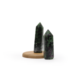 """Ruby Zoisite Polished Point ~3"""""""