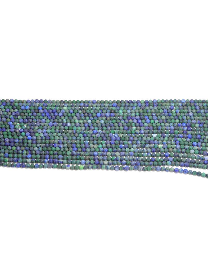 Azurite Round Matte 4mm