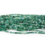 Green Banded Agate Round 8mm Dyed