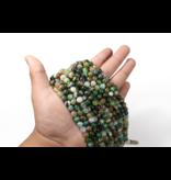 Green & Orange Agate Round 8mm Dyed