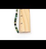 Green & Orange Agate Round 6mm Dyed