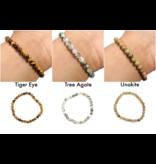 Assorted Gemstone Bracelet 6mm