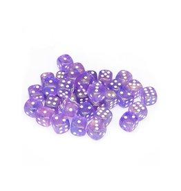 Chessex Chessex: 12mm D6 - Borealis - Purple w/ White