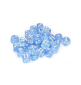 Chessex Chessex: 12mm D6 - Borealis - Sky Blue w/ White