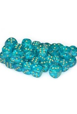 Chessex Chessex: 12mm D6 - Borealis - Teal w/ Gold