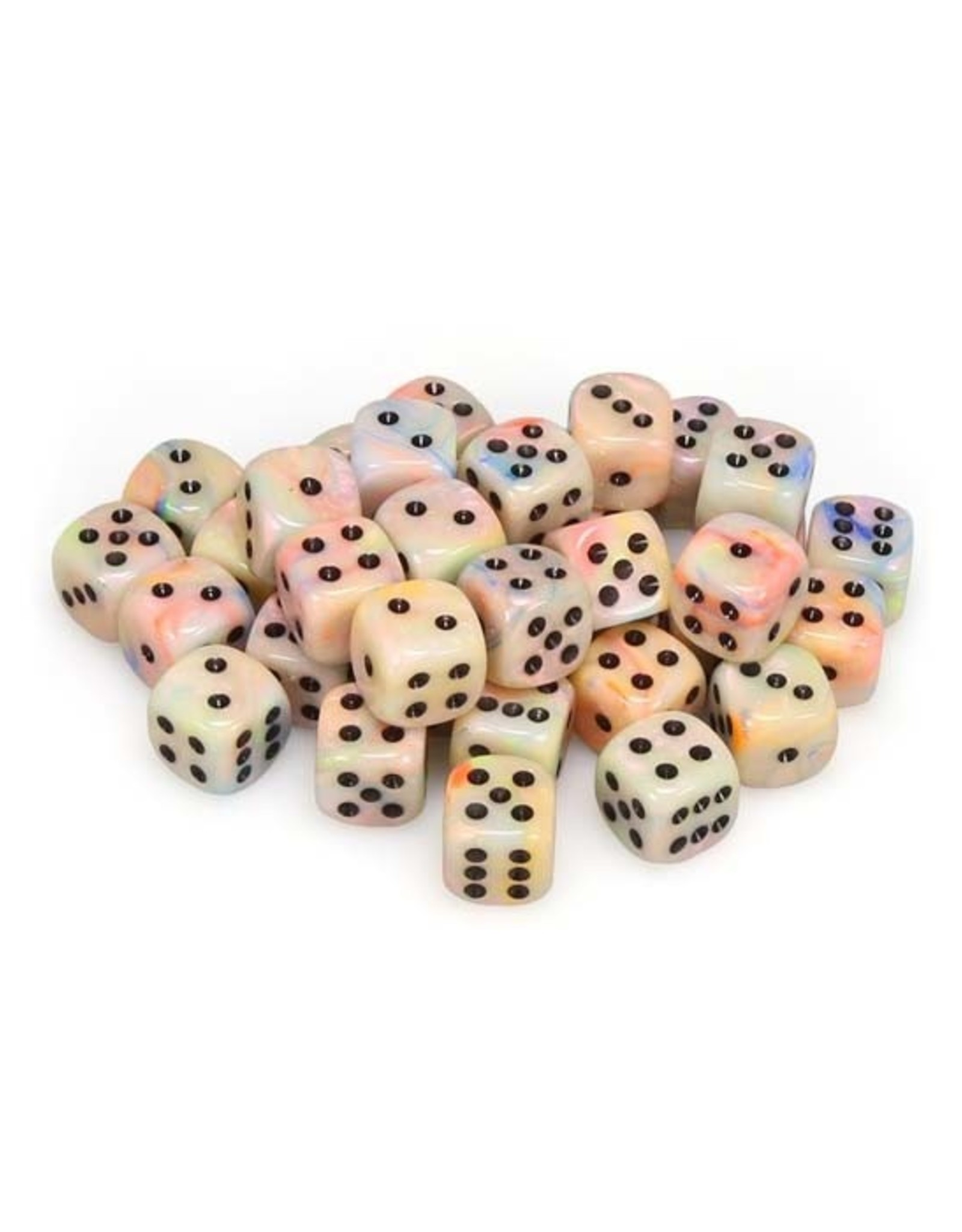 Chessex Chessex: 12mm D6 - Festive - Circus w/ Black