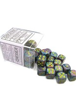 Chessex Chessex: 12mm D6 - Festive - Mosaic w/ Yellow