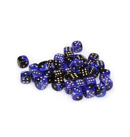 Chessex Chessex: 12mm D6 - Gemini - Black-Blue w/ Gold