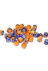 Chessex Chessex: 12mm D6 - Gemini - Blue-Orange w/ White