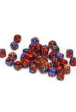 Chessex Chessex: 12mm D6 - Gemini - Blue-Red w/ Gold