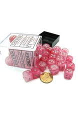 Chessex Chessex: 12mm D6 - Ghostly Glow - Pink w/ Silver