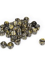 Chessex Chessex: 12mm D6 - Leaf - Black-Gold w/ Silver