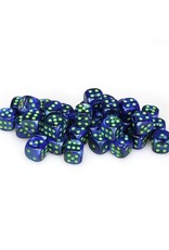 Chessex Chessex: 12mm D6 - Lustrous - Dark Blue w/ Green