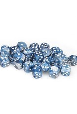 Chessex Chessex: 12mm D6 - Lustrous - Slate w/ White