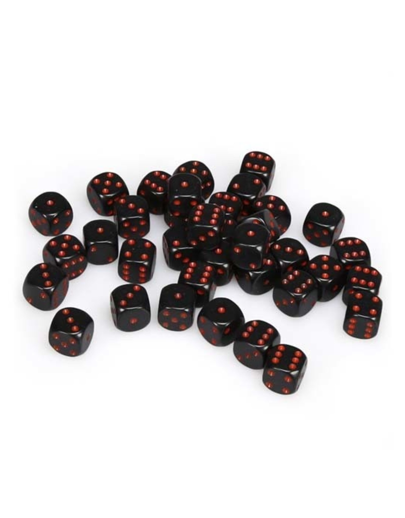 Chessex Chessex: 12mm D6 - Opaque - Black w/ Red