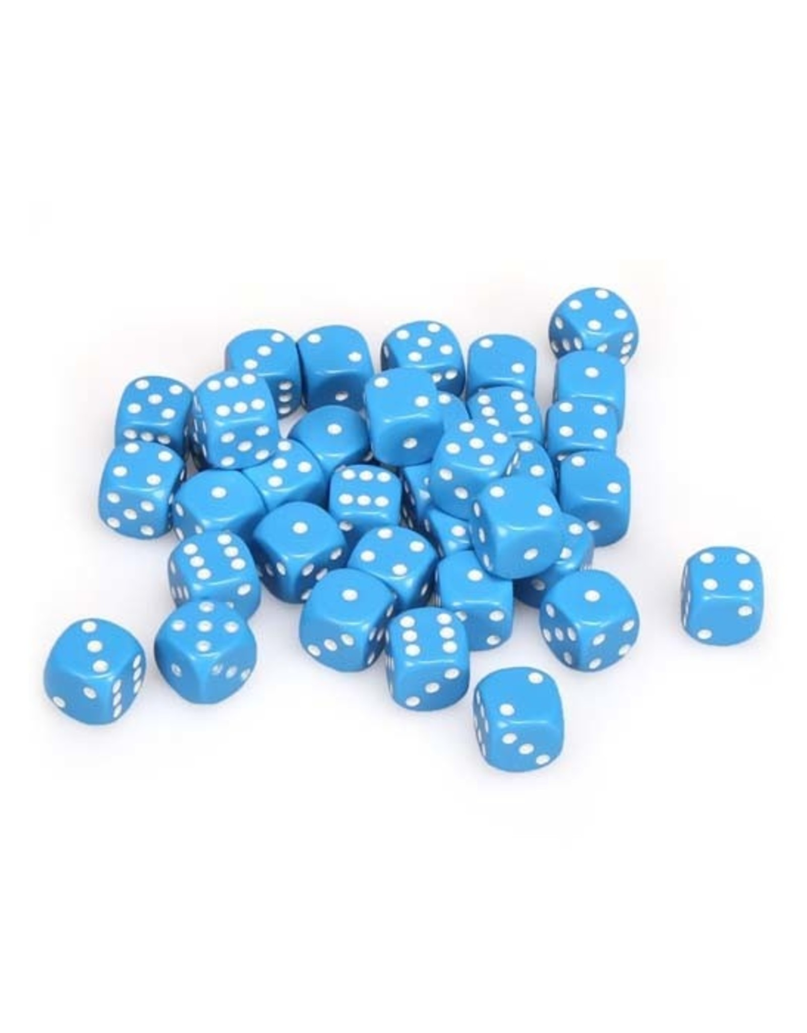 Chessex Chessex: 12mm D6 - Opaque - Blue w/ White