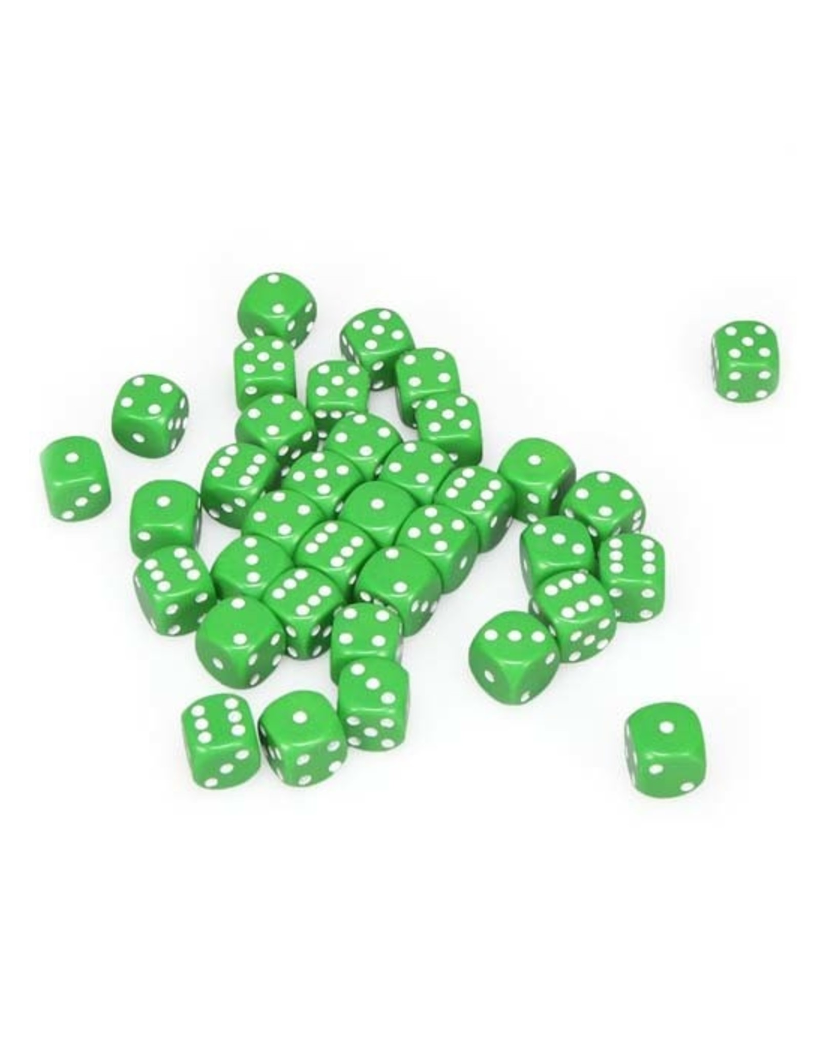 Chessex Chessex: 12mm D6 - Opaque - Green w/ White