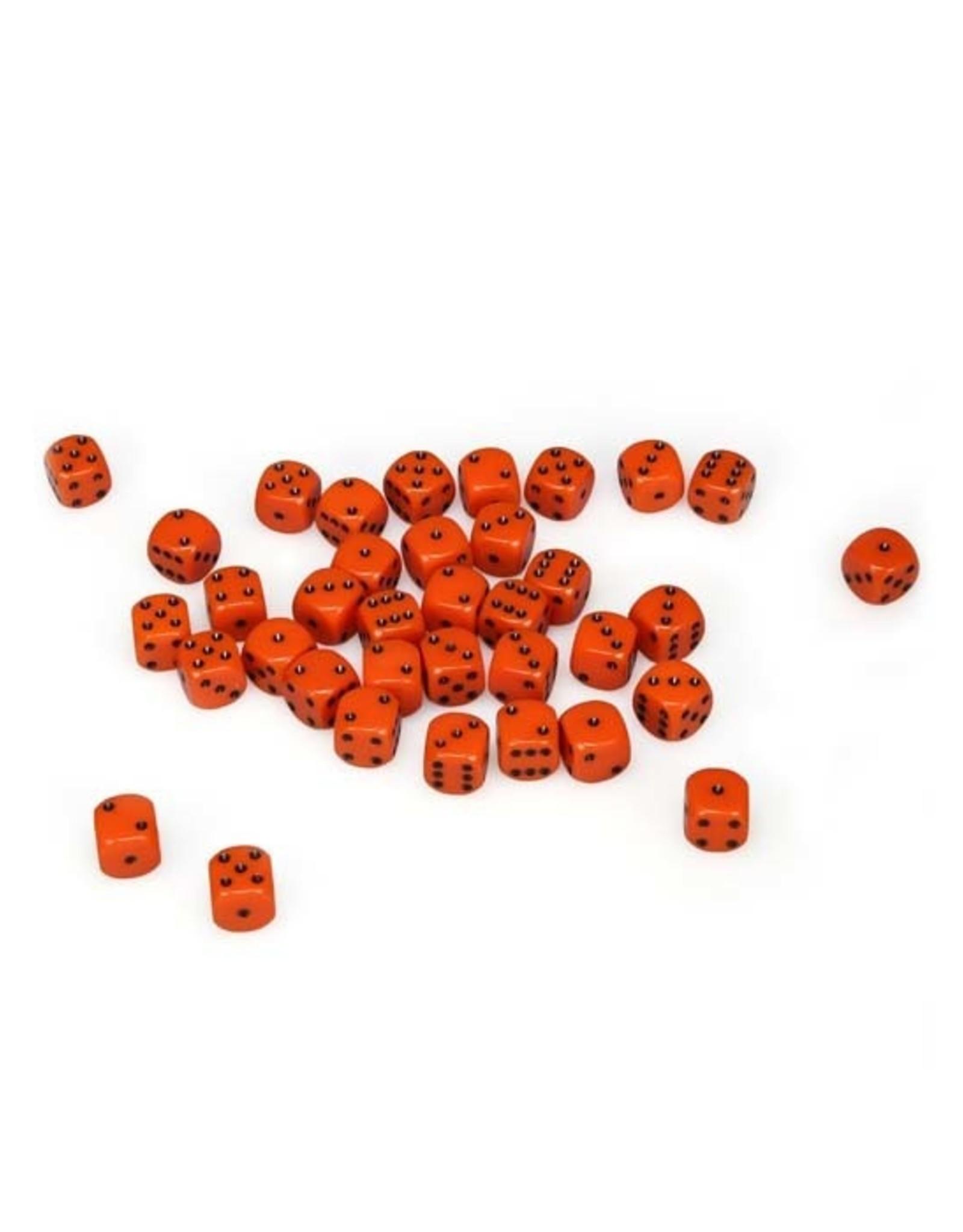 Chessex Chessex: 12mm D6 - Opaque - Orange w/ Black