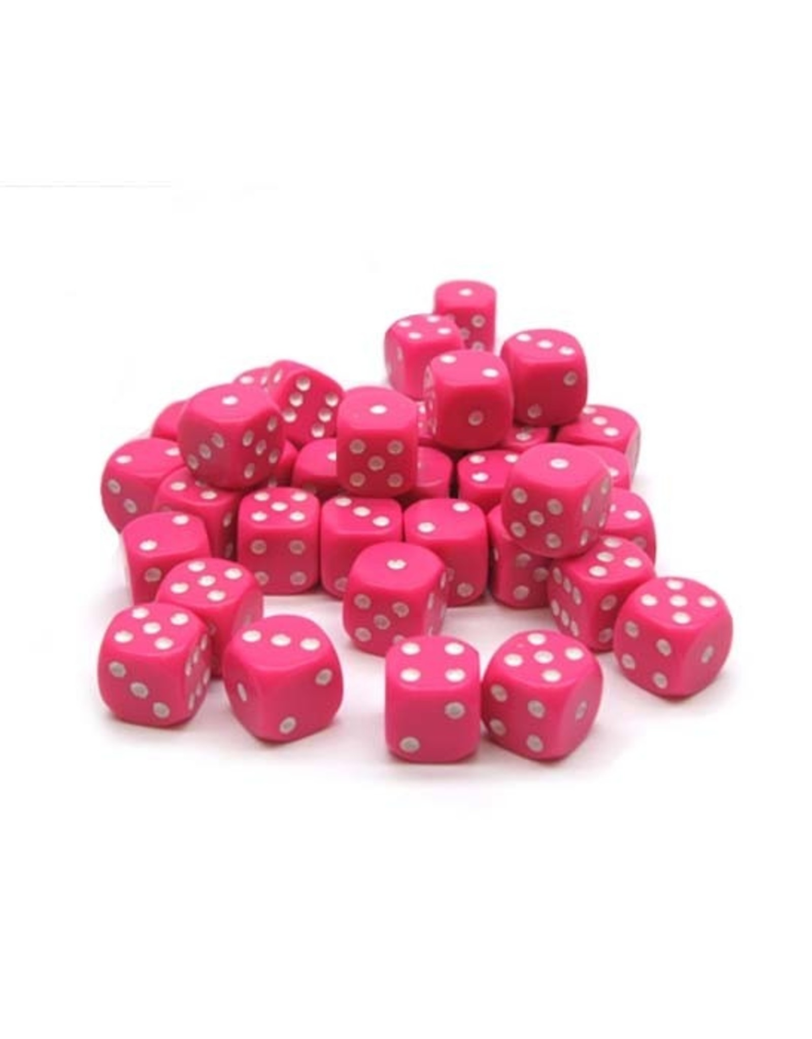 Chessex Chessex: 12mm D6 - Opaque - Pink w/ White