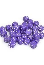 Chessex Chessex: 12mm D6 - Opaque - Purple w/ White