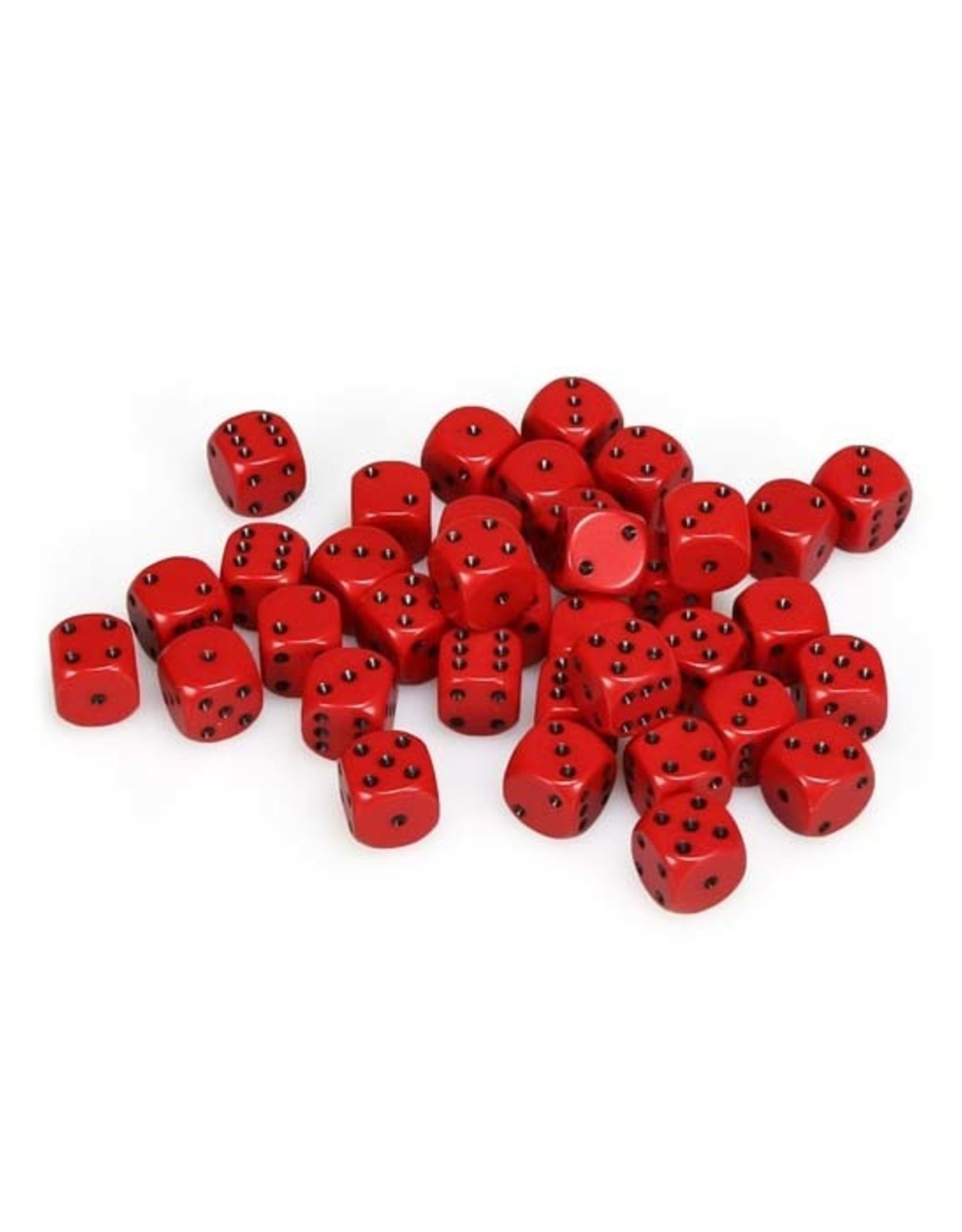 Chessex Chessex: 12mm D6 - Opaque - Red w/ Black