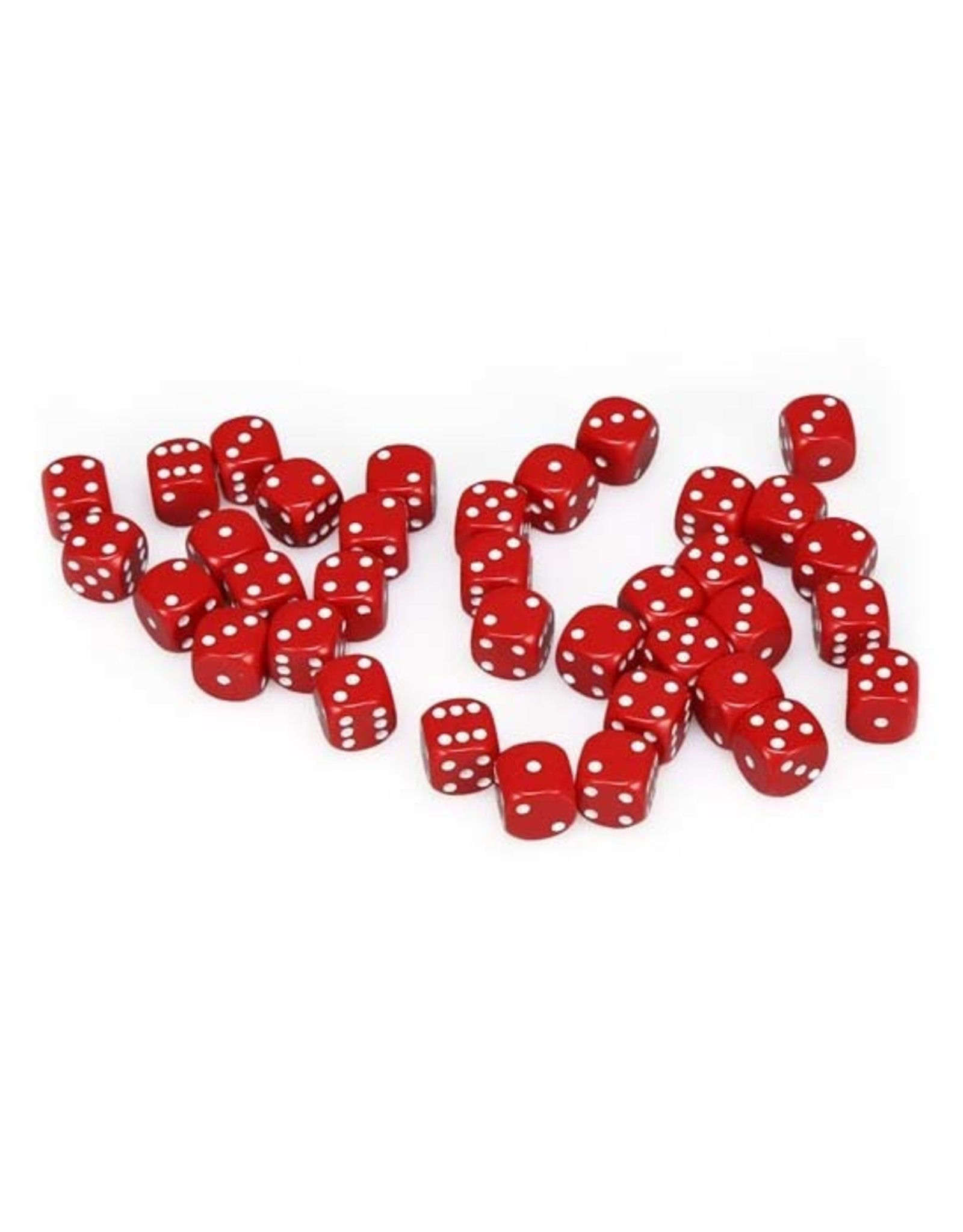 Chessex Chessex: 12mm D6 - Opaque - Red w/ White