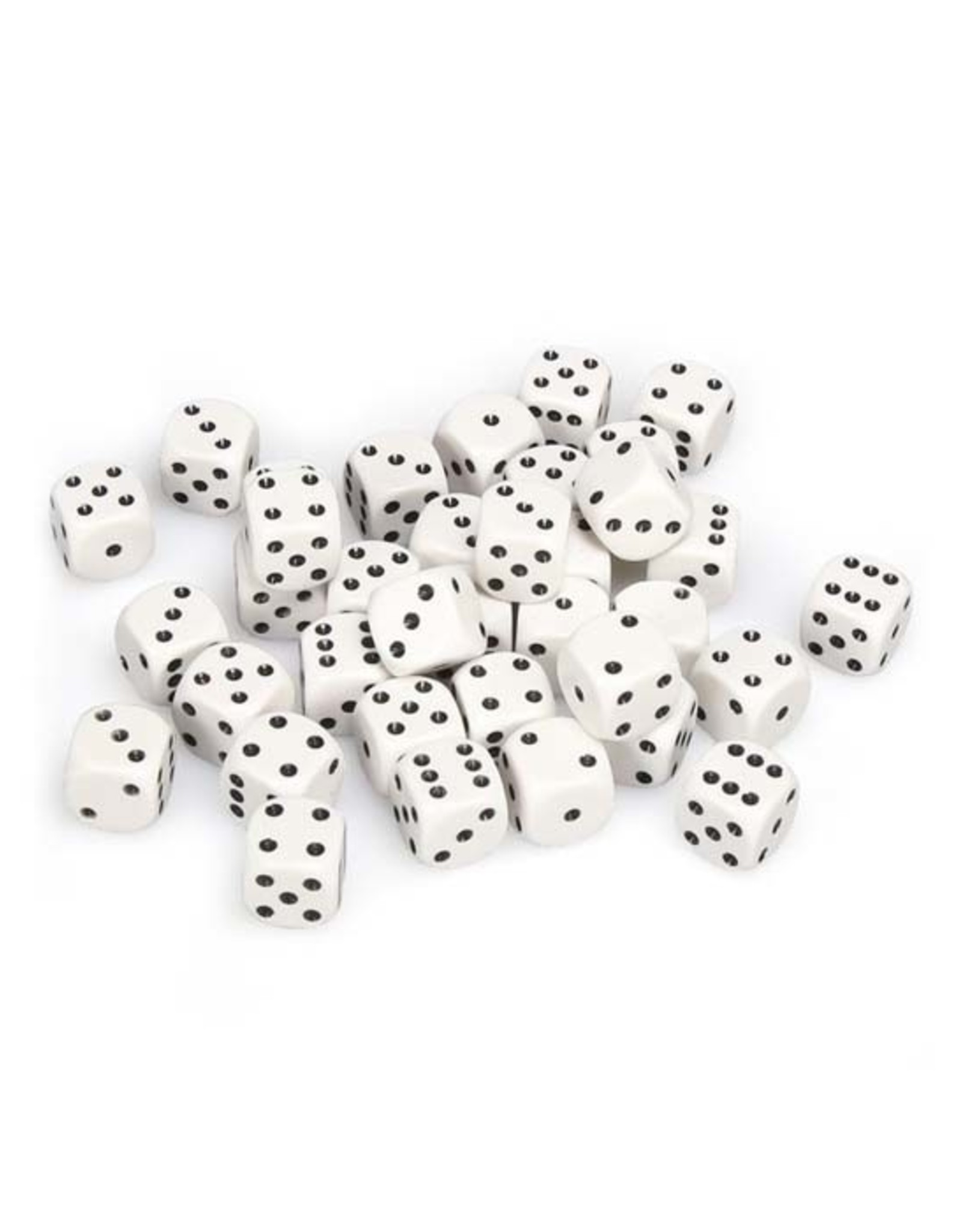 Chessex Chessex: 12mm D6 - Opaque - White w/ Black