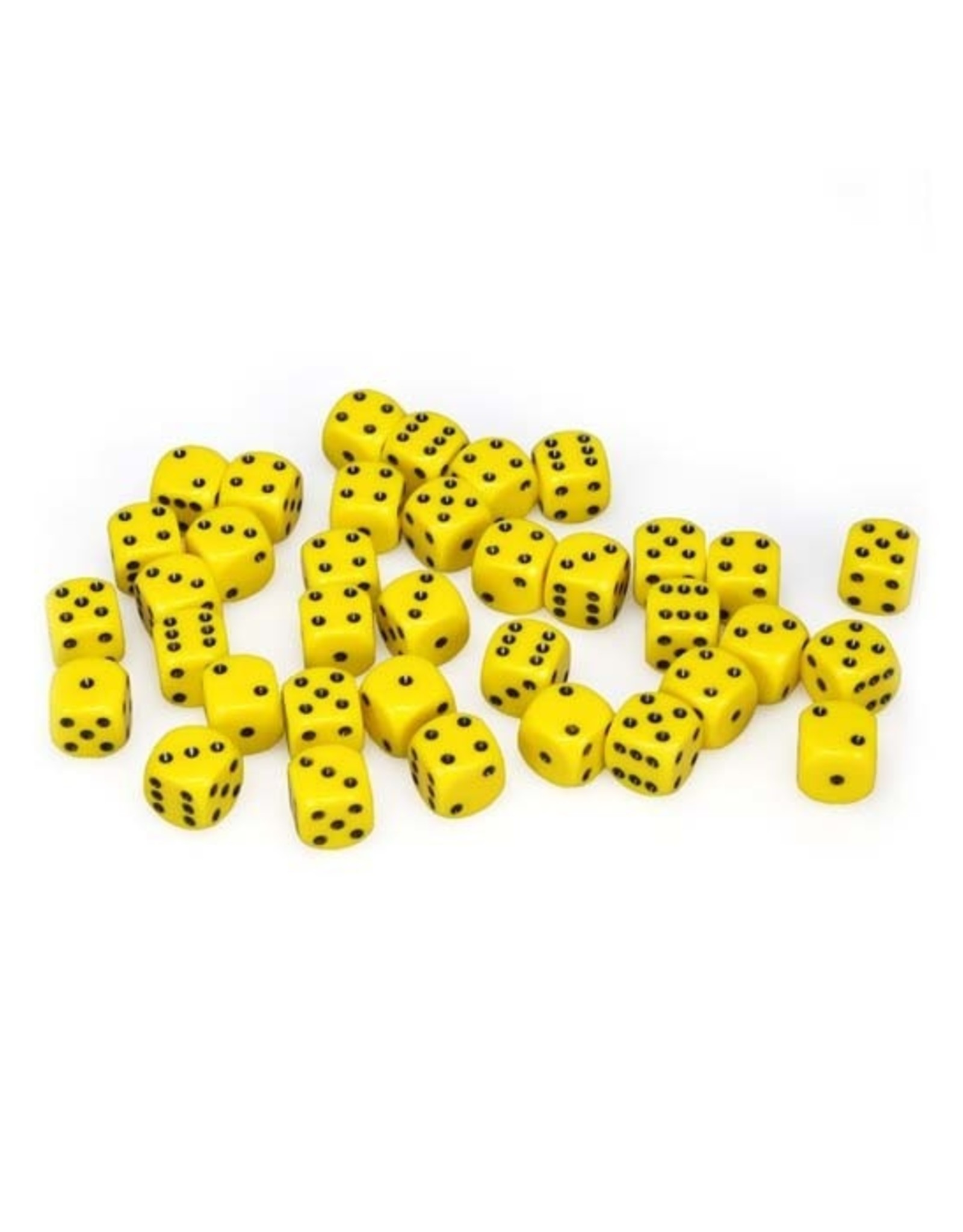Chessex Chessex: 12mm D6 - Opaque - Yellow w/ Black