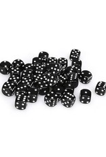 Chessex Chessex: 12mm D6 - Opaque - Black w/ White