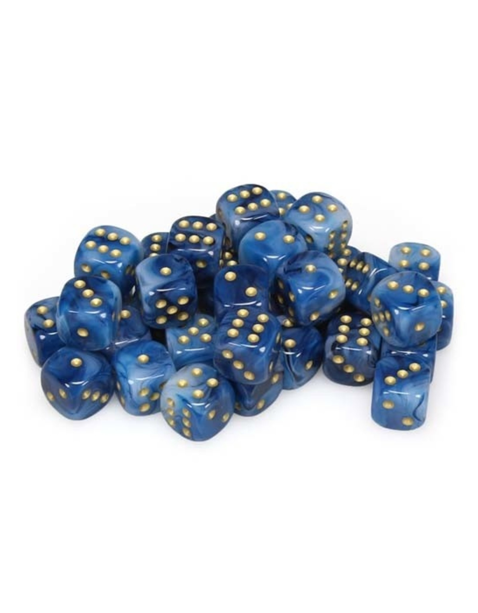 Chessex Chessex: 12mm D6 - Phantom - Teal w/ Gold