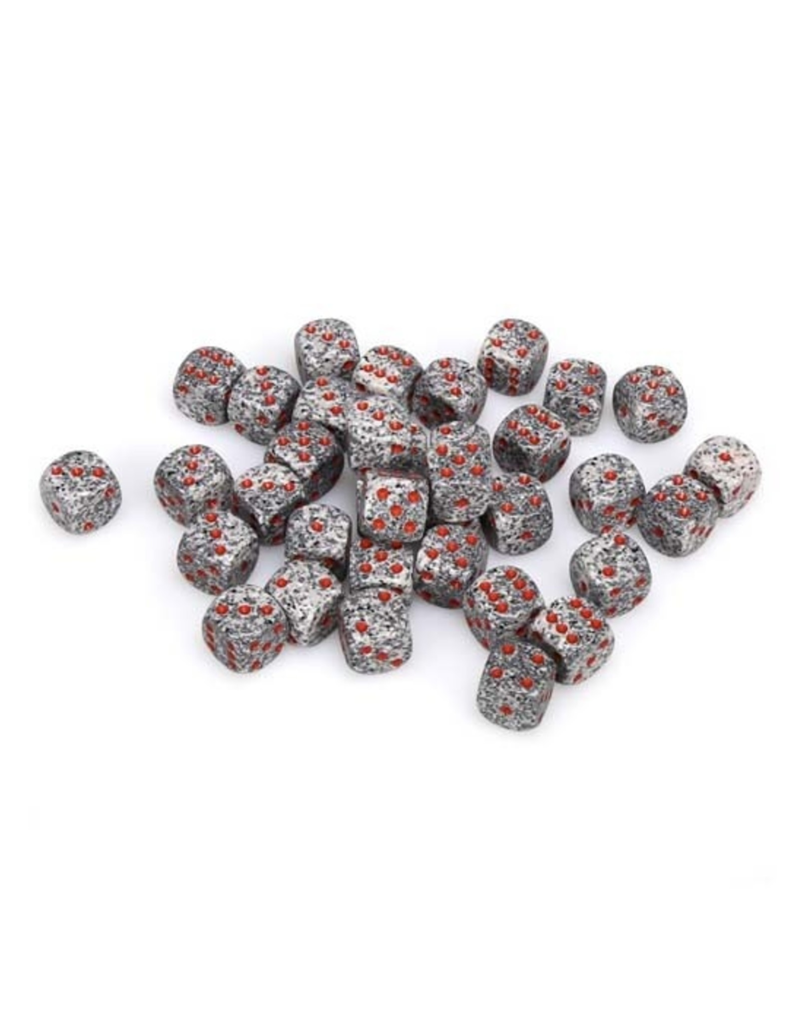 Chessex Chessex: 12mm D6 - Speckled - Granite w/ Red