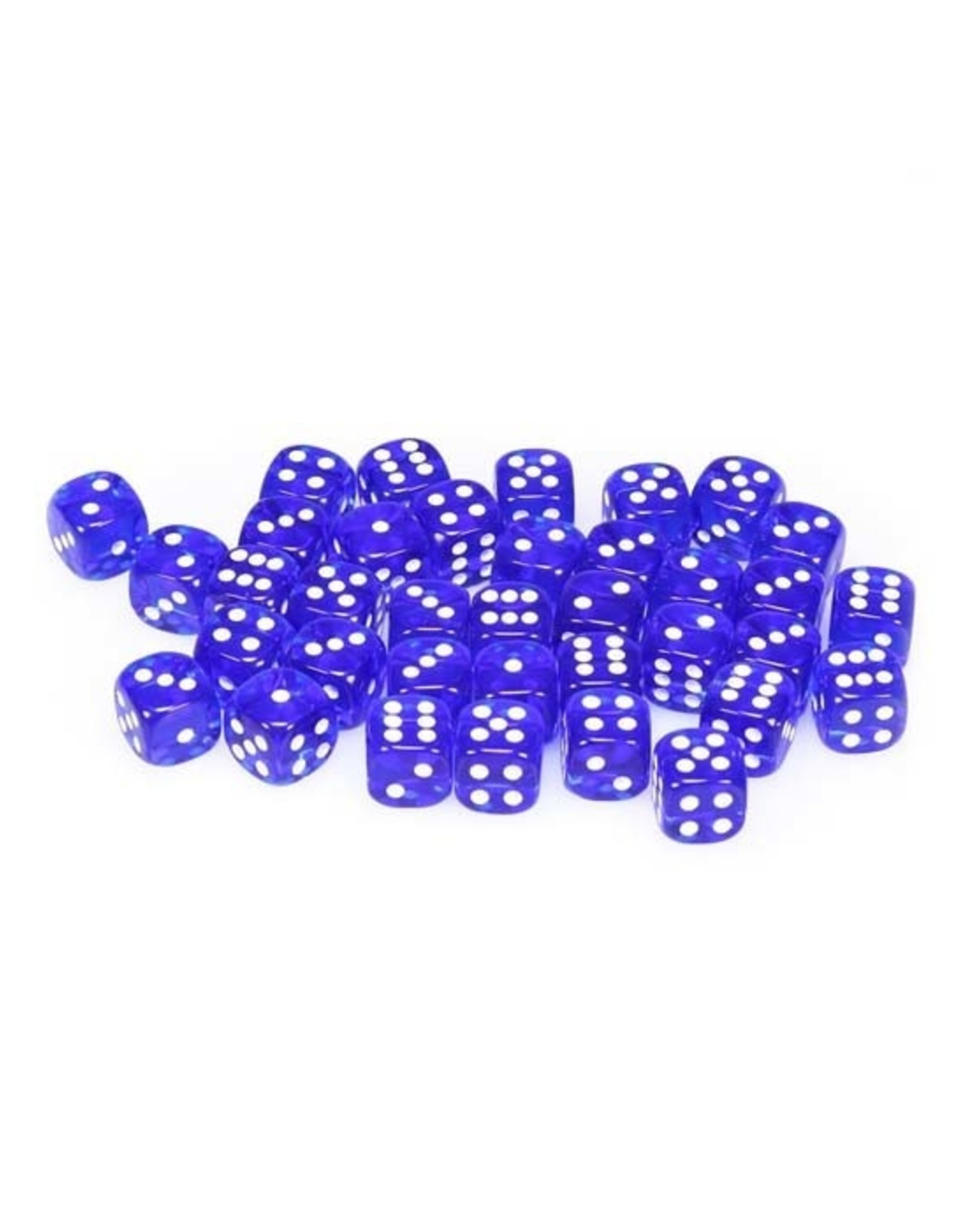Chessex Chessex: 12mm D6 - Translucent - Blue w/ White