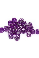 Chessex Chessex: 12mm D6 - Translucent - Purple w/ White