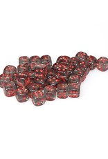 Chessex Chessex: 12mm D6 - Translucent - Smoke w/ Red