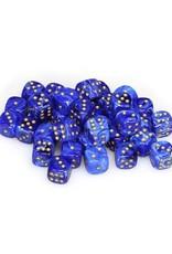 Chessex Chessex: 12mm D6 - Vortex - Blue w/ Gold