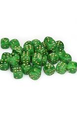 Chessex Chessex: 12mm D6 - Vortex - Green w/ Gold