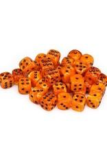 Chessex Chessex: 12mm D6 - Vortex - Orange w/ Black