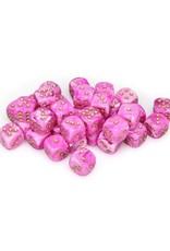 Chessex Chessex: 12mm D6 - Vortex - Pink w/ Gold