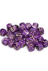 Chessex Chessex: 12mm D6 - Vortex - Purple w/ Gold