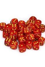 Chessex Chessex: 12mm D6 - Vortex - Red w/ Yellow