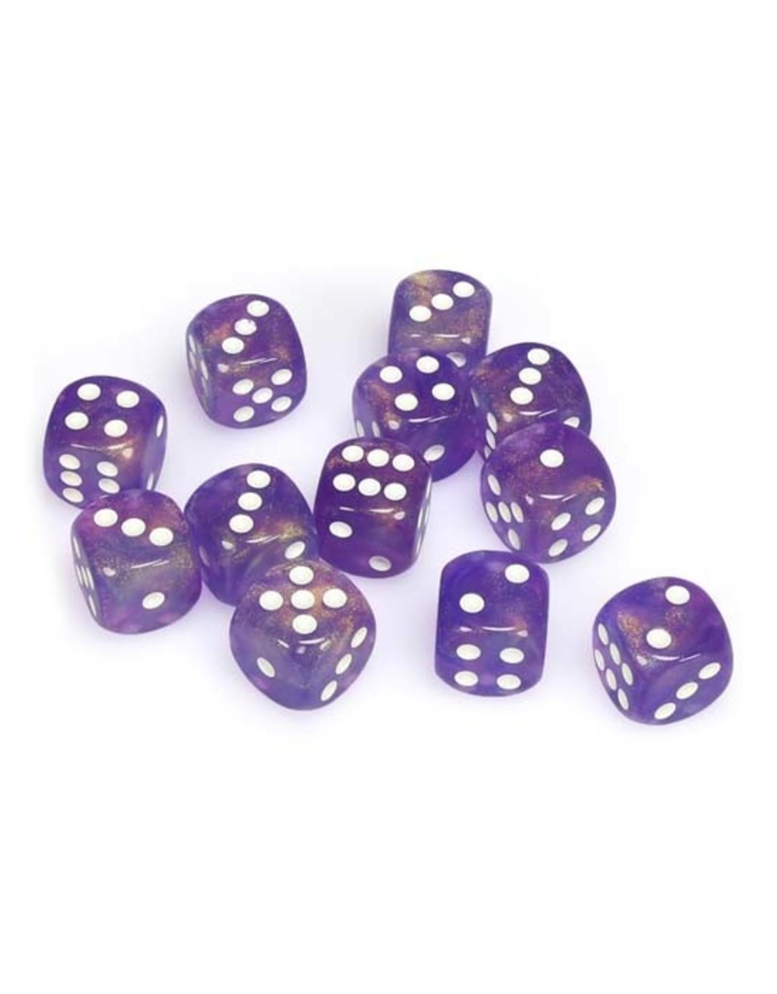 Chessex Chessex: 16mm D6 - Borealis - Purple w/ White