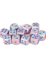 Chessex Chessex: 16mm D6 - Festive - Pop Art w/ Blue