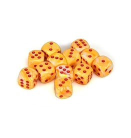 Chessex Chessex: 16mm D6 - Festive - Sunburst w/ Red